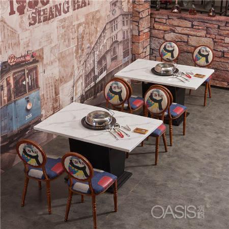 日式网红主题西餐厅桌椅